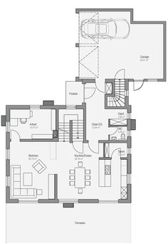 Modern House Floor Plans, House Plans, Indoor Outdoor, Sweet Home, Home And Garden, Flooring, How To Plan, Interior Design, Architecture