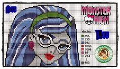 """Delicado Cantinho: Gráficos Ponto Cruz """"Monster High"""""""
