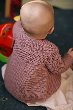 Ravi Junior by StolenStitches.com ~~ Beautiful short rows and lace round yoke, but inspiration photo only ~~ $ pattern