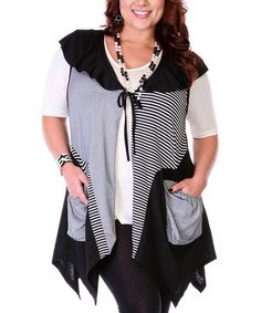 Look at this #zulilyfind! Black & White Patchwork Vest by Aster #zulilyfinds *maybe?* yeah...maybe.??