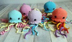 Szydełkowe meduzy / ośmiornice. Szydełkowe zabawki dla dzieci. Crochet Jellyfish/Octopus