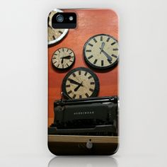 Clocks iPhone 5 Case by Josj - $35.00