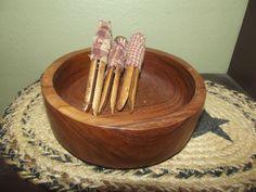 Primitive Wax Dipped Clothes Pins ~ Bowl Fillers Homespun Country Decor #NaivePrimitive