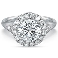 """Fink's Jewelers - Fink's Platinum Round Center Stone Halo Engagement Ring, <a href=""""http://www.finks.com/contact/personal-shopper"""">Contact a personal shopper</a> (http://finksjewelers.com/finks-platinum-round-center-stone-halo-engagement-ring/)"""