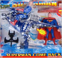 Superman Come Back (on a dinosaur) on of the 15 Most Unintentionally Hilarious Bootleg Toys | Cracked.com