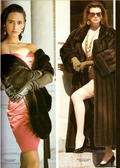 1987 McComber Furs Fur American Ultra Awards Gail Elliott Print Ad Vintage 80s | eBay