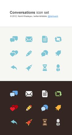 Flat Iconset by Kamil Khadeyev - Dribbble.com