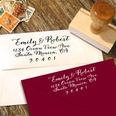 Calligraphy+handwriting+Address+Stamp+for+weddings+by+Designkandy,+$24.95