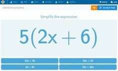 Online math game for distributive property gives students more practice. Great for 1:1 classroom. Check out all 12 distributive property activity ideas & resources, including 2 FREE downloads.