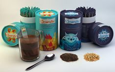 Imersão - Tea packaging concept by Mariane Silvestre, via Behance