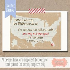 Flat Custom Change of  Address Cards - Personalized Greeting Cards - Choose your colors - (Set of 5) $7