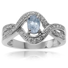 Journee Collection Sterling Silver Blue Topaz 1/3 ct Ring (Size- 5), Women's