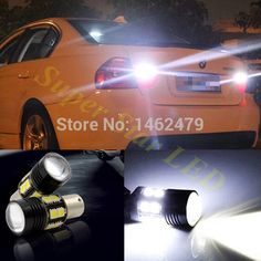 Pair 1156  BA15S  P21W For Cree Chips White Canbus No Error Car LED Rear Reversing Tail Light Bulb  For  BMW X3 X5 E53 E70 Z3 Z4
