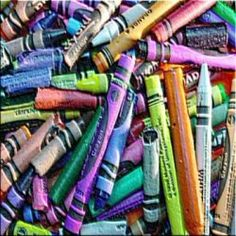 Wondering what to do with all those broken or old crayons? Why not melt them into something new! These fun craft projects are great ways to recycle...