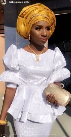 African Wedding Attire, African Attire, African Wear, African Women, African Blouses, African Lace Dresses, Latest African Fashion Dresses, Modest Wedding Dresses With Sleeves, Barbie Fashion Royalty