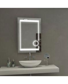 Paris Mirror Aurora Illuminated LED Bathroom Mirror With Magnification  Circle