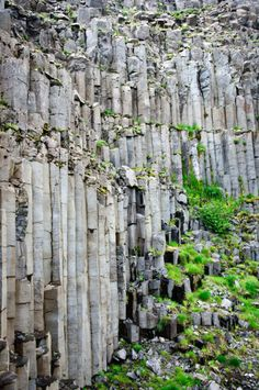 Organ pipe rock formations, Iceland Inspirational Rocks, Iceland Island, Rock Formations, Lofoten, Iceland Travel, Travel Inspiration, Travel Ideas, Vacation Spots, Geology