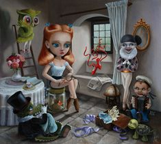 Painting Surreal Scenes from a Child's Toy Box - My Modern Metropolis Xue-Wang