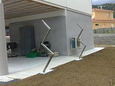 Le design de lucy funambule tendoir linge d - Etendoir a linge exterieur en beton ...