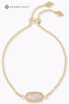 Whether you like your bracelets loose or close to the wrist, our Elaina Adjustable Chain Bracelet in Rose Quartz is a delicate addition to any arm party. This stunning chain bracelet is a perfect go-to for everyday wear and adds a little extra sparkle to your outfit. Wear it alone or stack on more for a trend-forward look - either way, you can't go wrong with adding the Elaina Adjustable Chain Bracelet to your jewelry box.