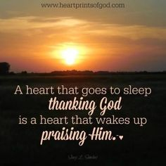 Heartprints of God: Thanking Leads to Praising~<3