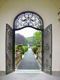 a favorite door to the gardens