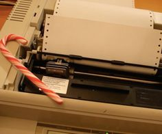Deck the halls with this hacked dot-matrix printer. #Atmel #DotMatrixPrinter #Makers #MIDI