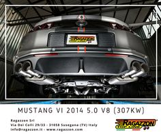 Mustang VI 2014 5.0 V8 (307kW) 2014 with Ragazzon Exhaust - #Mustang #Ragazzon #Tuning