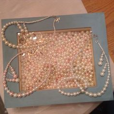 Look what Jay found at a local estate sale: a large box filled with beads in various sizes! Certainly a great find! Jay has since been busy making necklace & earrings. Jewelry sets in white, ivory or pink make great gifts for bridesmaids, any requests?