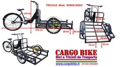 Tricycle ROMA BASIC Cargo Bike with Front Scooter's Wheels and Lowered Platform, adapt for preparing a Vending Cart. 3 Wheel Scooter, Scooter Wheels, Front Brakes, Rear Brakes, Drink Cart, Beverage Cart, Tricycle Bike, Ice Cream Cart, Scooters
