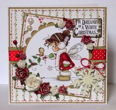 The Hobby House Winter Fairy topper Homemade Christmas Cards, Merry Christmas Card, Christmas Cards To Make, Xmas Cards, Christmas Scrapbook Pages, Winter Fairy, Whimsy Stamps, Hobby House, Fall Cards