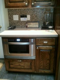 Pull out microwave drawer