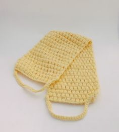 This puff stitch back scrubber is perfect with the crochet bath pouf. This bath scrubber makes a great gift or the perfect thing to spoil yourself with. Making Clothes From Old Clothes, Reuse Old Clothes, Old Baby Clothes, How To Make Clothes, Clothes Crafts, Washing Clothes, Crochet Curtain Pattern, Crochet Curtains, Crochet Patterns
