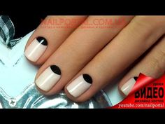 Дизайн ногтей гель-лак shellac - Лунный маникюр (видео уроки дизайна ногтей) - YouTube