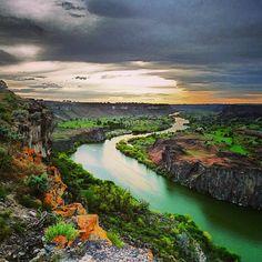 Snake River at Twin Falls, ID -@barberboss (Shelley Salehi) 's Instagram photos   Webstagram - the best Instagram viewer