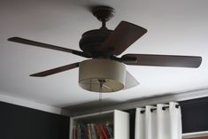 First Try With Drum Shade Ceiling Fan Makeover
