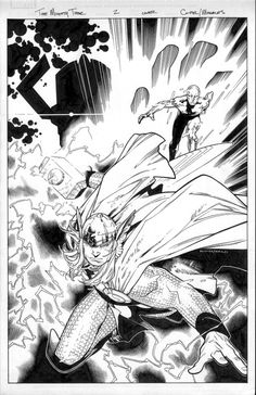 Thor by Olivier Coipel - the mighty thor 1 cover  inked by MarkMorales.deviantart.com on @deviantART