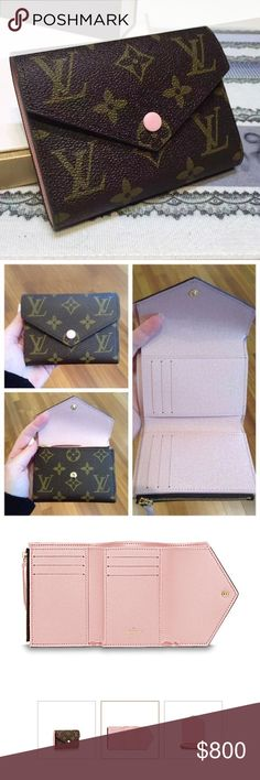 Louis Vuitton Victorine Wallet This wallet was limited edition & sold out everywhere! Monogram with pink ballerine interior. BRAND NEW NEVER USED. Mine is made in France. Very practical & perfect size for small bags. 6 card slots,2 side pockets, full size bill slot & coins. Bought this at the rodeo Louis Vuitton. It's truly a beautiful piece so I couldn't pass it up but I'm more of a big wallet girl so it's jus been sitting in the box. I'm not dying to sell it so no LOW BALLERS. This is a…