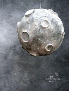papier mache moon