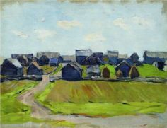 A Village - Isaac Levitan