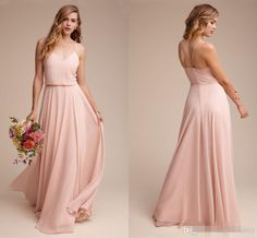 2017 New Pink Backless Bridesmaid Dresses Garden Elegant V-neck Cheap Spaghetti Straps Elegant Maid of the Honor Dresses New Bridesmaid Dresses Cheap Bridesmaid Dresses Long Maid of Honor Dress Online with $92.0/Piece on Magicdress2011's Store | DHgate.com