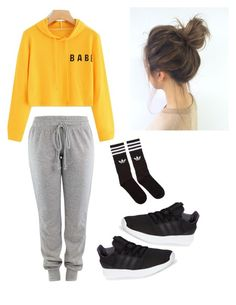 """""""LOUNGE"""" by haileymagana on Polyvore featuring adidas and adidas Originals"""