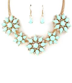 MINT SENA STAR BURST NECKLACE SET