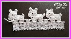 Crochet Edging Patterns, Crochet Lace Edging, Crochet Borders, Crochet Stitches, Crochet Bunny, Crochet For Kids, Free Crochet, Double Crochet, Single Crochet