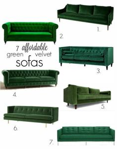 On the hunt for a new sofa? We're sharing our top seven opinions for green velvet sofas that are affordable, well made and with great lines!