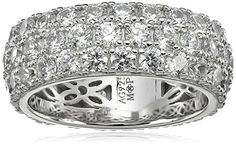 fa6a965b5 Myia Passiello Colors Swarovski Zirconia Clear Large Stackable Ring, Size 8  ** You can