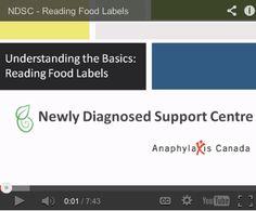 Reading Food Labels Webinar - http://www.allergysupportcentre.ca/webinars.html