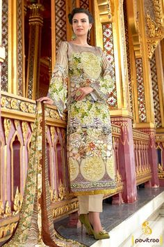 Get Impressive look with multi and red color salwar suit online ...