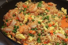 Yum! Shrimp fried rice. Chinese food for #SundaySupper