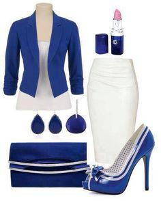Pretty Blue and White